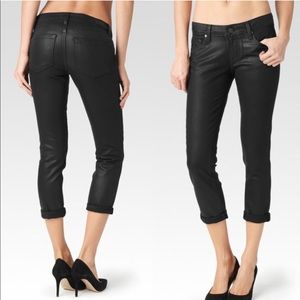 Paige Jimmy Jimmy Crop Waxed Jeans Size 27
